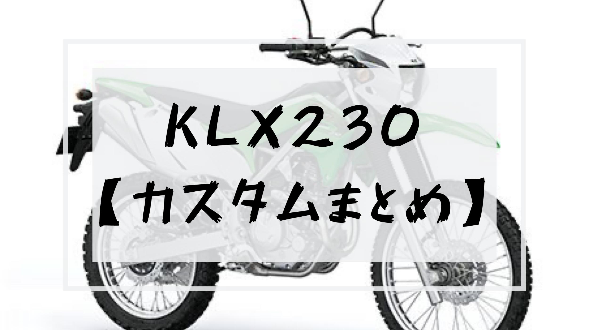 KLX230 カスタム